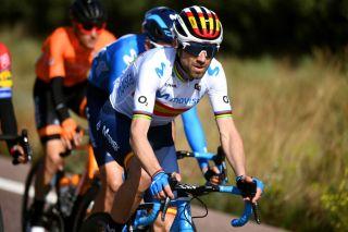 Spanish road race champion Alejandro Valverde (Movistar) on stage 1 of the 2020 Volta a la Comunitat Valenciana