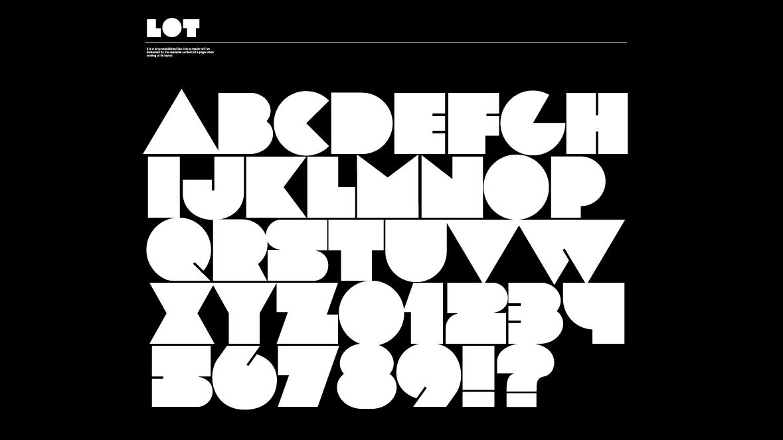 Best free fonts: LOT