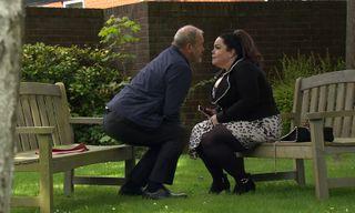 Jimmy King kisses Mandy Dingle in Emmerdale