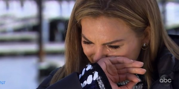 The Bachelorette Hannah Brown crying ABC