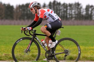 TIELT BELGIUM MARCH 03 Dani Christmas of United Kingdom and Team Lotto Soudal Ladies during the 15th Spar Omloop Van Het Hageland Women Elite a 1326km race from Tienen to Tielt Winge LottoCyclingCup SPAROmloopVanHetHageland on March 03 2019 in Tielt Belgium Photo by Luc ClaessenGetty Images