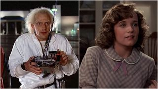 Christopher Lloyd and Lea Thompson in Back to the Future