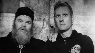 A photograph of Neurosis' Scott Kelly and Mastodon's Brann Dailor together