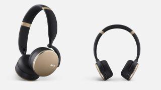 AKG Y500 wireless headphones in black and gold