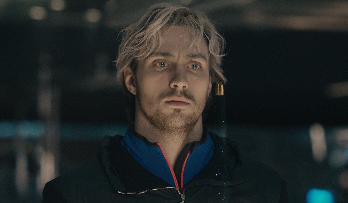 Aaron Taylor-Johnson as Quicksilver in Avengers: Age of Ultron