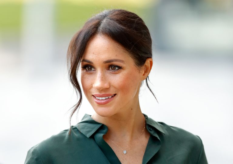 Meghan Markle necklace, Duchess of Sussex visits the University of Chichester's Engineering and Technology Park on October 3, 2018 in Bognor Regis, England