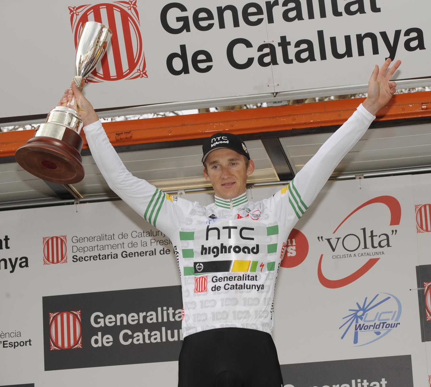 Gatis Smukulis leads, Volta a Catalunya 2011 stage two