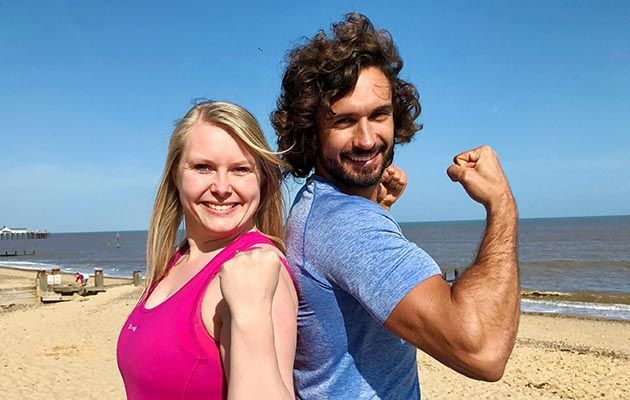 Joe with Natalie on his new C4 show