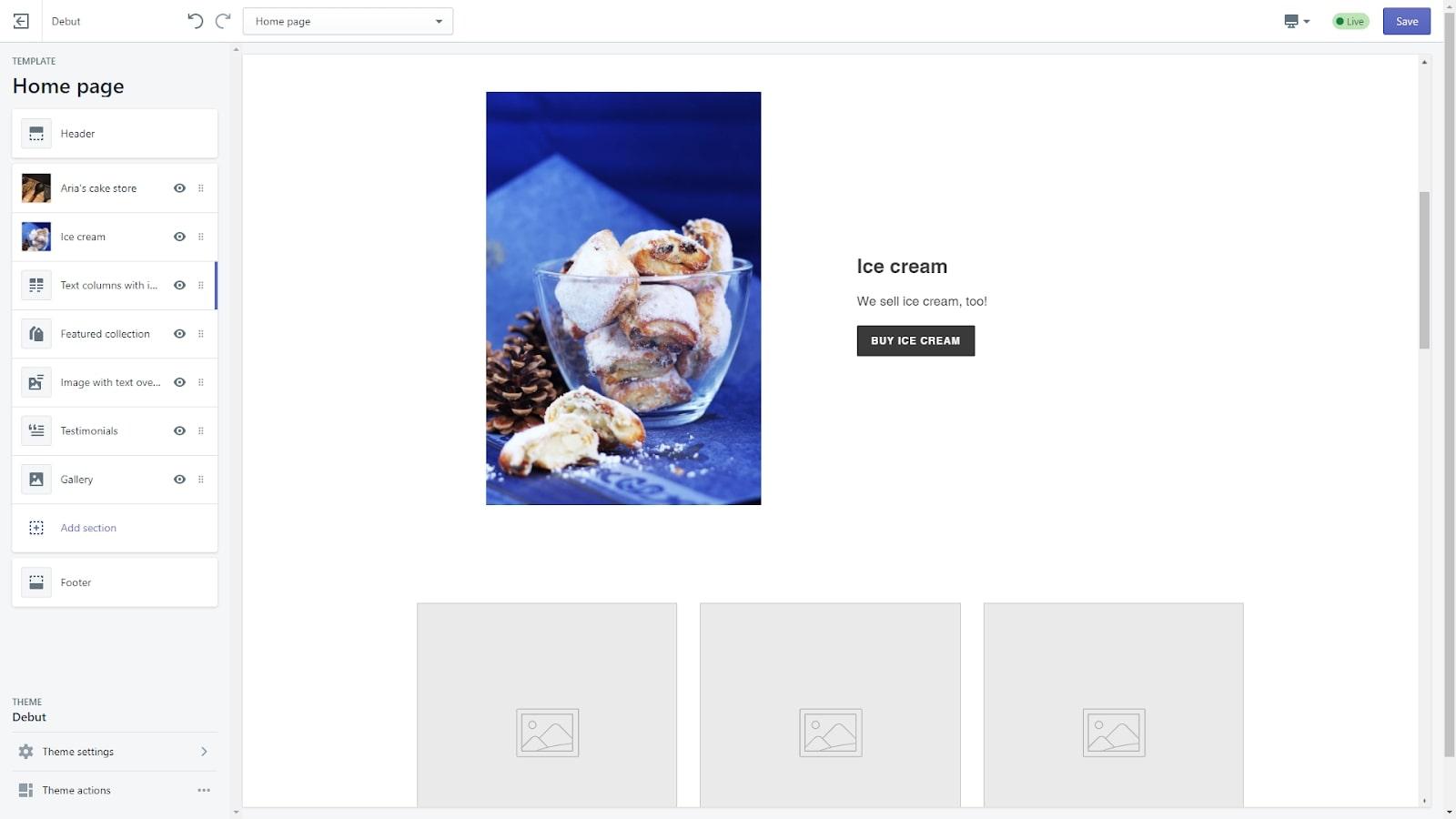 build a website shopify ecommerce