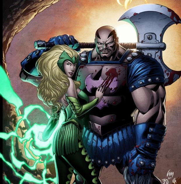 Skurge and Enchantress in Marvel Comics