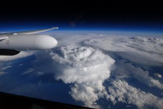 ER-2 aircraft pilot Stu Broce snapped this photo of a supercell that formed over North Carolina in May.
