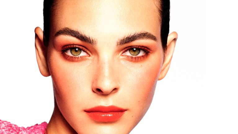 Chanel model wearing S/S 21 makeup collection