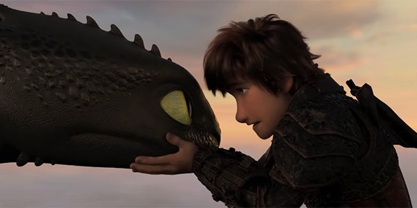 Toothless and Hiccup sharing a moment