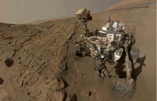 NASA's Mars rover Curiosity captured this self-portrait during April and May in 2014 during its second year on the Red Planet.
