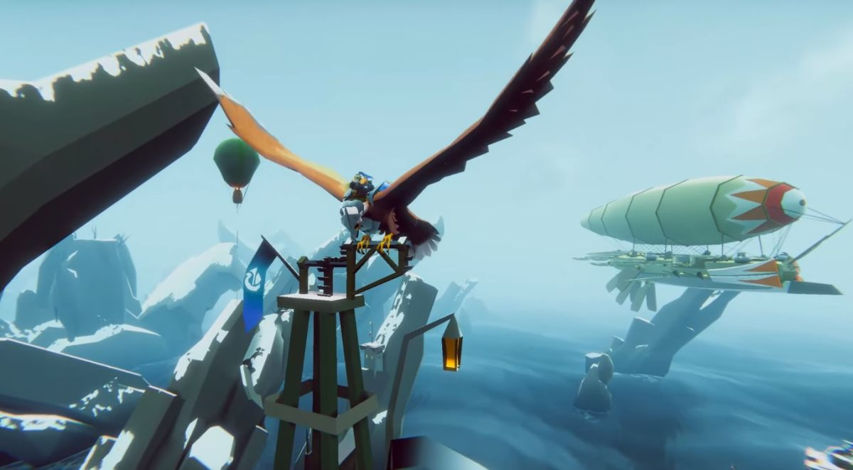 The Falconeer is a dogfighting game with giant birds