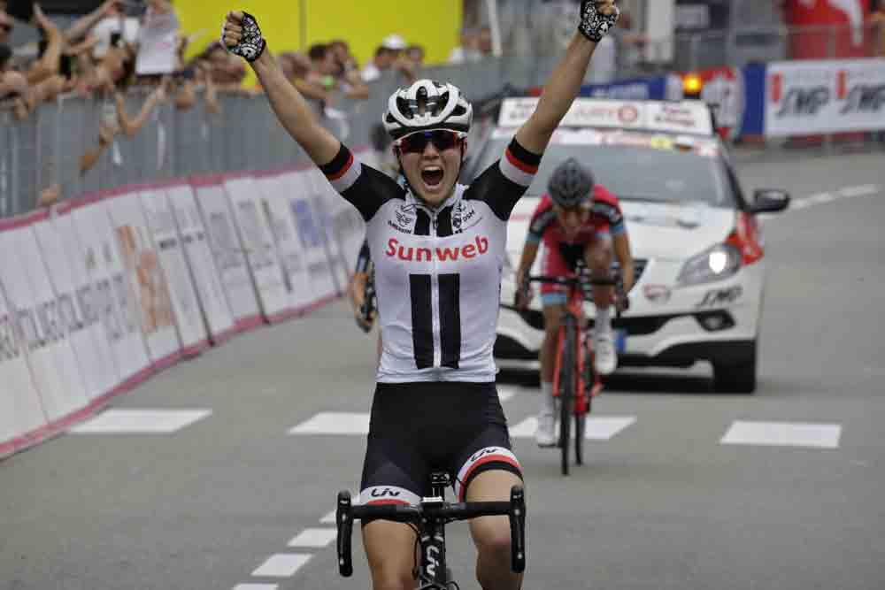 Ruth Winder wins in Omegna (Image: Anton Vos/Cor Vos)