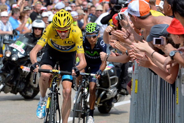 Chris Froome and Nairo Quintana, Tour de France 2013, stage 15