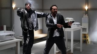 Nicolas Cage and Nick Cassavetes in Prisoners of the Ghostland