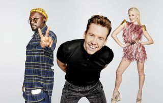 The Voice coaches will.i.am, Danny Jones and Pixie Lott
