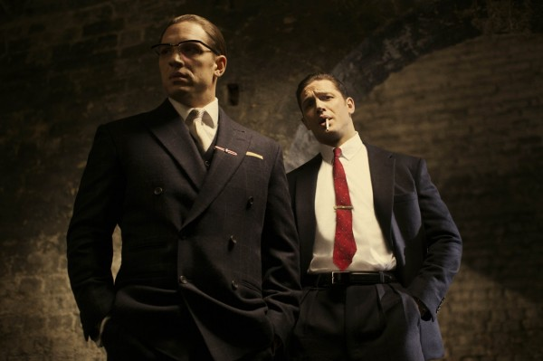 Tom Hardy plays Reggie and Ronnie Kray in Legend