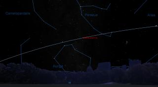 Sky Map for Comet C/2017 O1 ASAS-SN