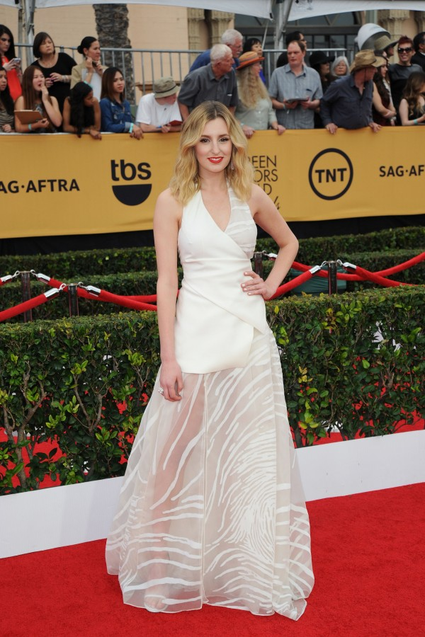 Laura Carmichael on the red carpet