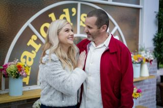 Lucy Durack and Ryan Maloney as Rose and Toadie on Neighbours