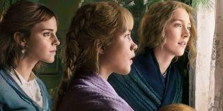 Emma Watson, Florence Pugh, Saoirse Ronan on the Little Women Poster