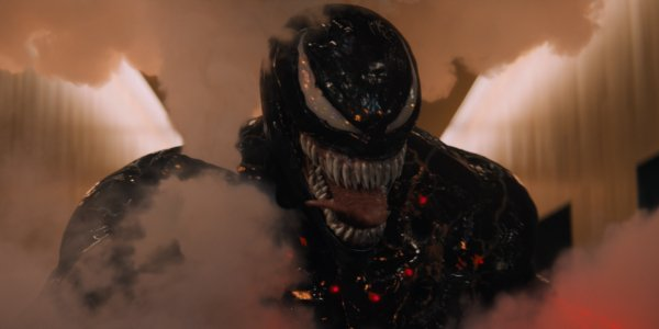 Venom being clouded with smoke