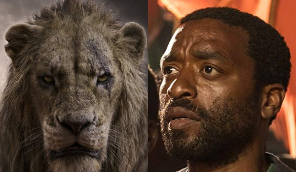 The Lion King Scar and Chiwtel Ejiofor side by side