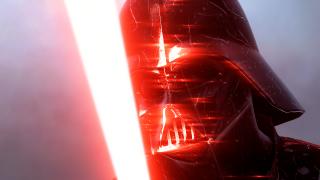 Darth Vader glowering.