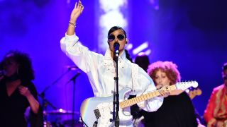 """H.E.R. performs onstage during the 62nd Annual GRAMMY Awards """"Let's Go Crazy"""" The GRAMMY Salute To Prince on January 28, 2020 in Los Angeles, California"""