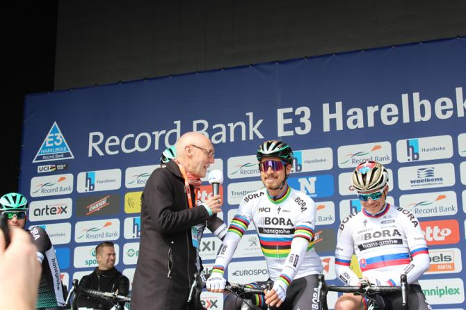 Peter Sagan went down well with fans as he was interviewed on stage