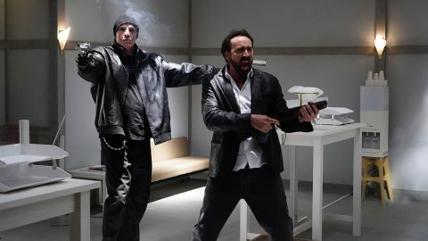 Nic Cage and Nick Cassavetes in Prisoners of the Ghostland