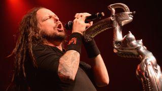 Korn's Jonathan Davis singing