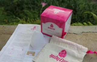 Photo of Ruby Cup and packaging