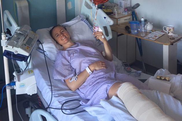 Laura Cameron hospital broken leg_single use courtesy of Laura Cameron