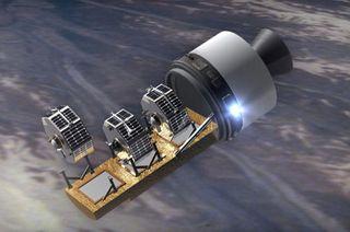 NASA Scrubs Launch of Microsatellite Trio
