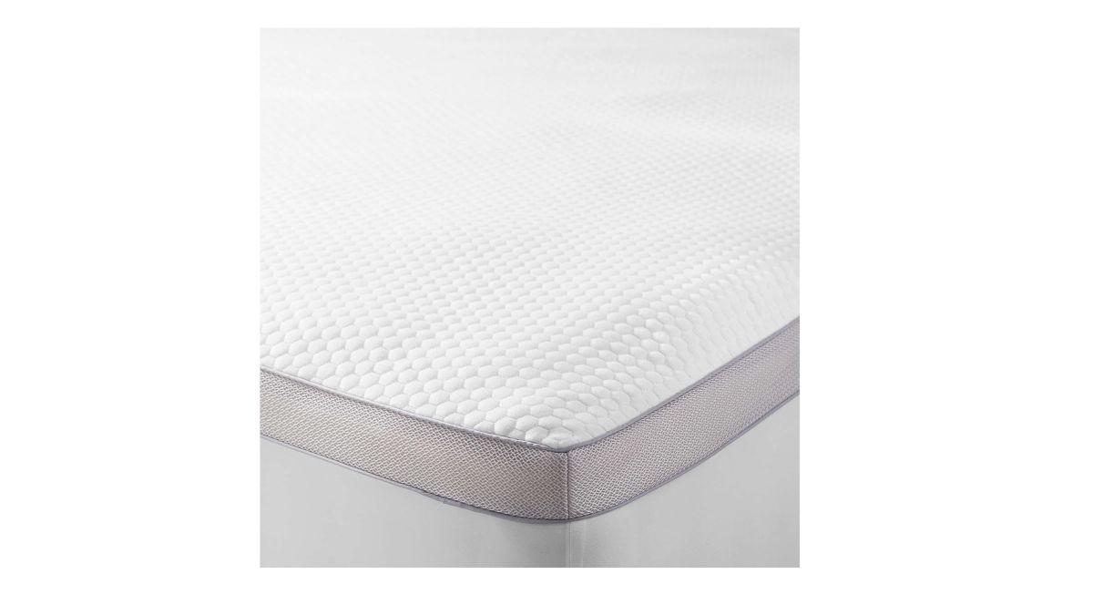 Single Zipped Elasticated Stretch Mattress Cover In White
