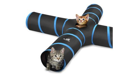 Pawaboo cat tunnel tube collapsible play tent