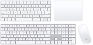 Apple keyboards and trackpads