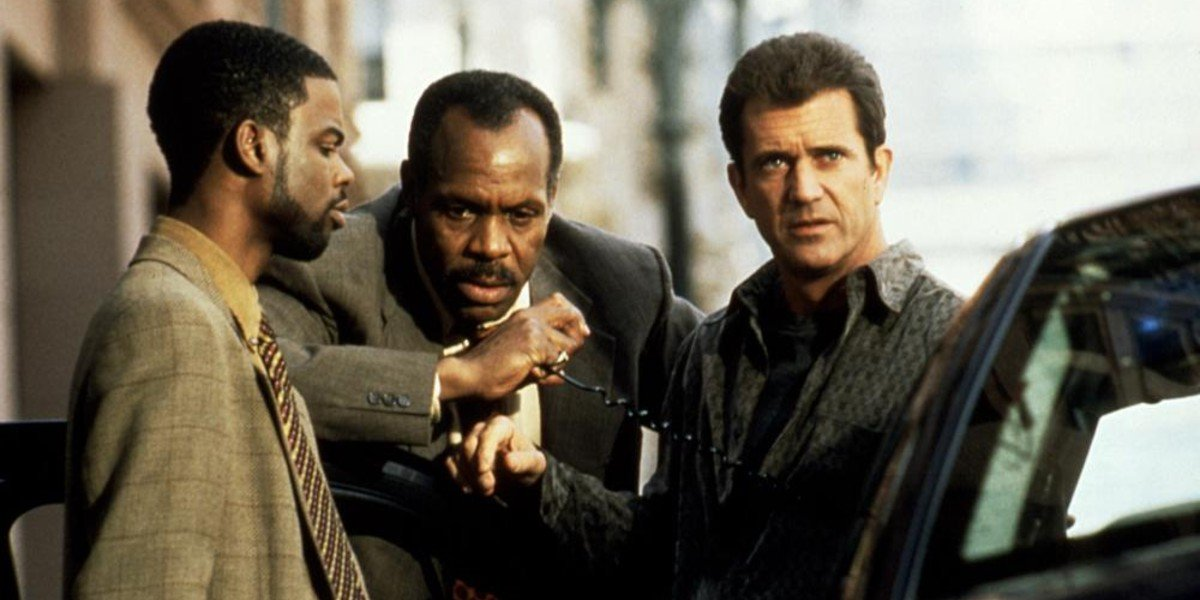 Chris Rock, Danny Glover, and Mel Gibson in Lethal Weapon 4