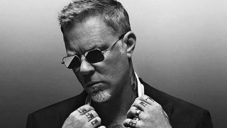 James Hetfield wears Brioni