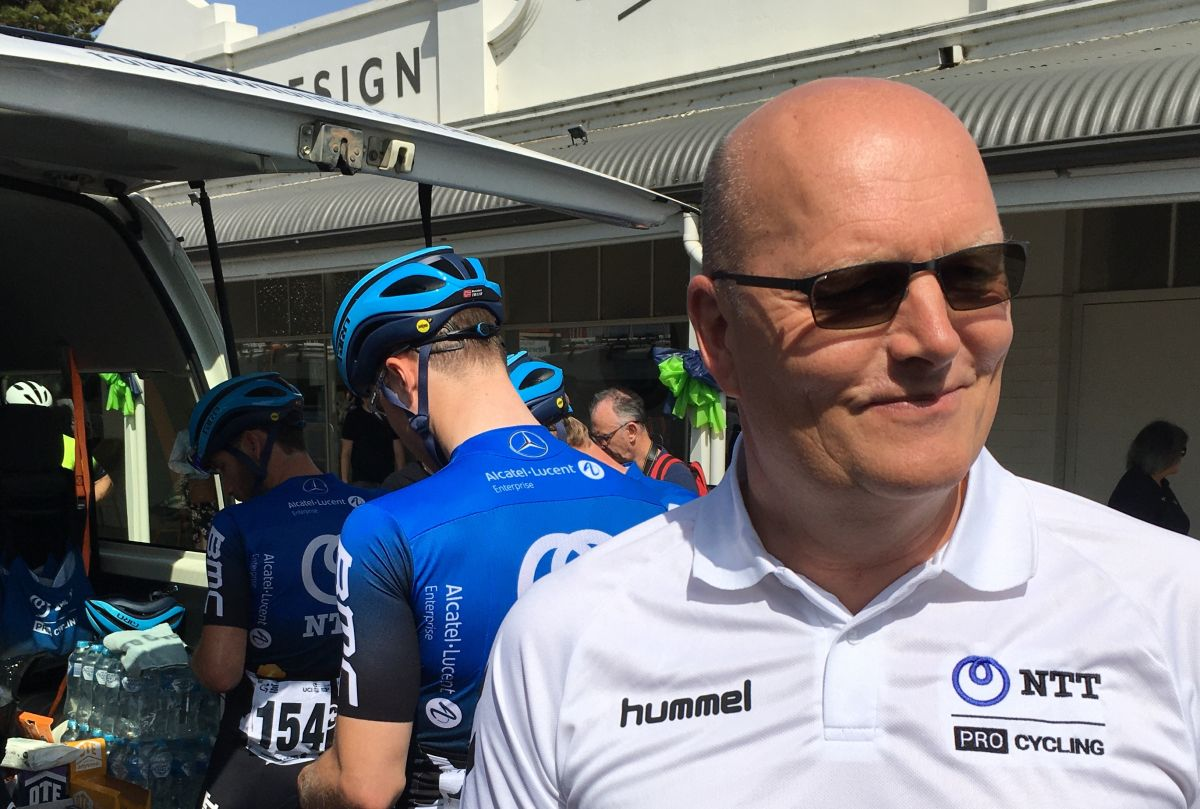 Bjarne Riis joins up with NTT Pro Cycling at Tour Down Under