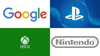 An image of the Google, Xbox, PlayStation and Nintendo logos
