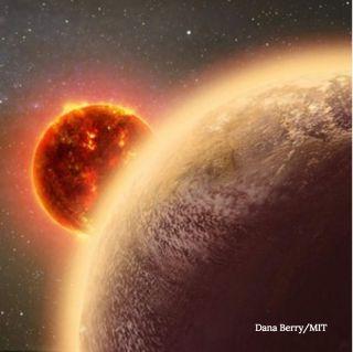 Possibley habitable exoplanet