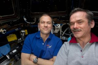 Chris Hadfield and Tom Marshburn