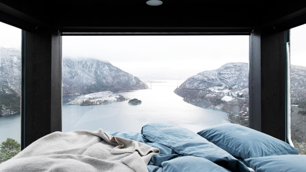 Explore these one-legged cabins above a Fjord in Norway