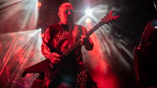 Kerry King onstage with Slayer