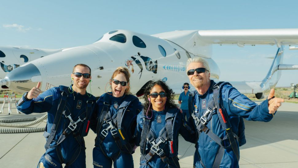 Welcome to the dawn of a new space age,' Richard Branson says after Virgin Galactic flight